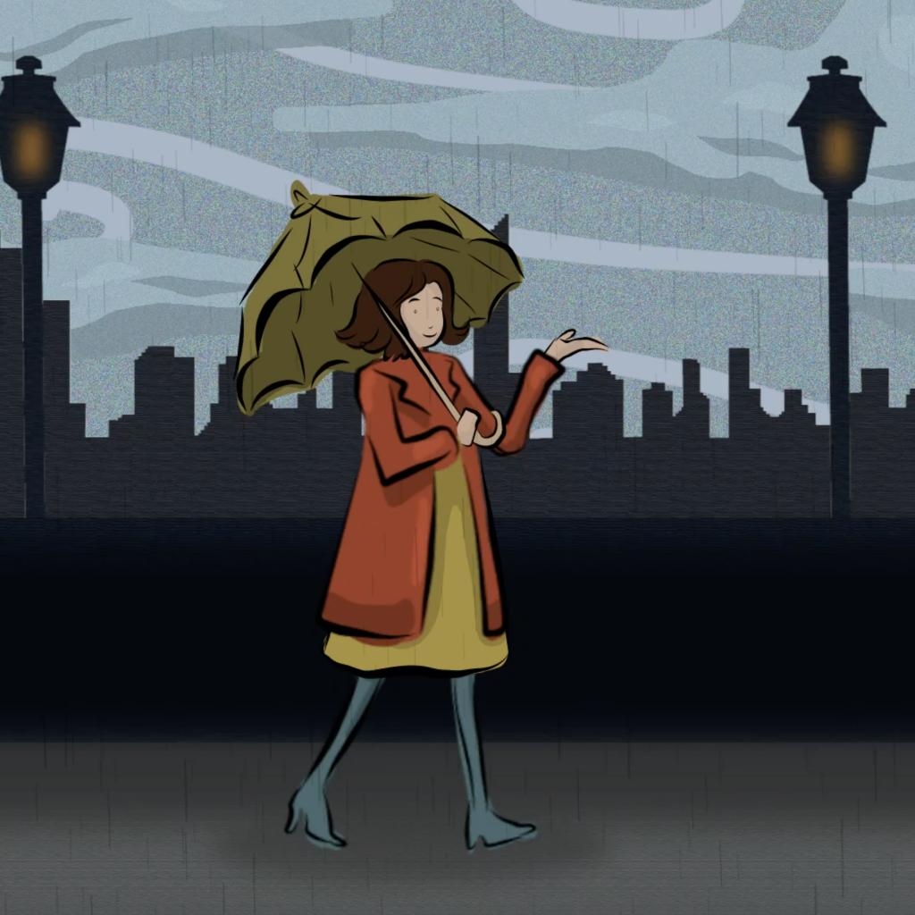 Cover image for A Walk in the Rain, a motion graphics piece